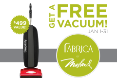 Get a Free Vacuum With Your Carpet Purchase!